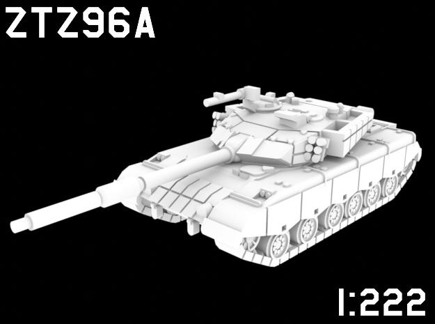 1:222 Scale ZTZ96A in White Natural Versatile Plastic