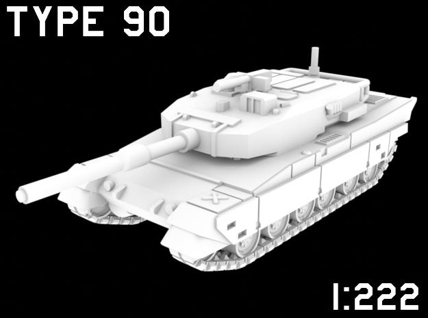 1:222 Scale Type 90  in White Natural Versatile Plastic