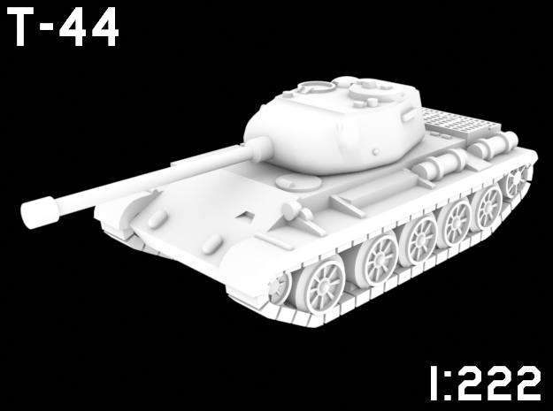 1:222 Scale T-44 in White Natural Versatile Plastic