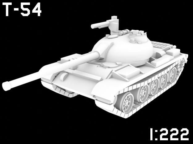 1:222 Scale T-54 in White Natural Versatile Plastic