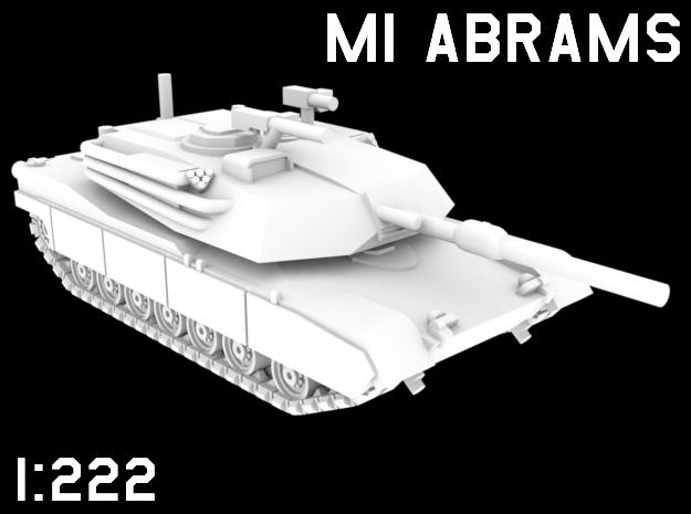 1:222 Scale M1 Abrams in White Natural Versatile Plastic