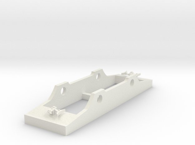 Wantage Tramway No 4 Hughes Tram chassis oo scale in White Natural Versatile Plastic