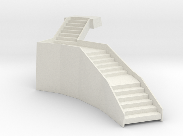 Steps with one side in White Natural Versatile Plastic