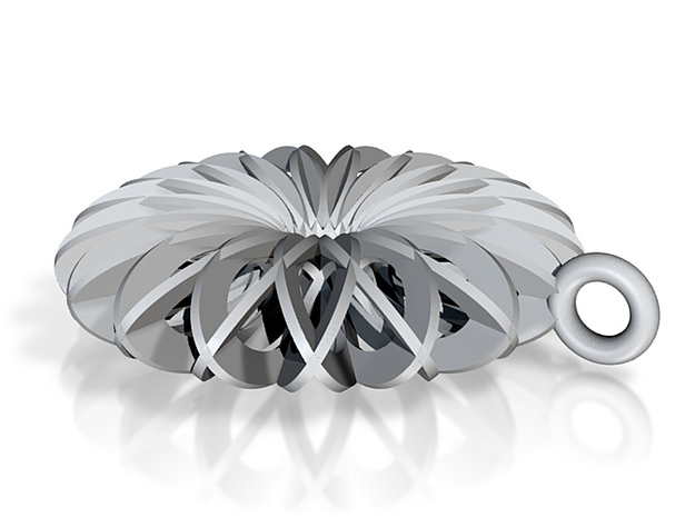 Calatrava Jewellery forms 144 80mm dia pendant 3d printed