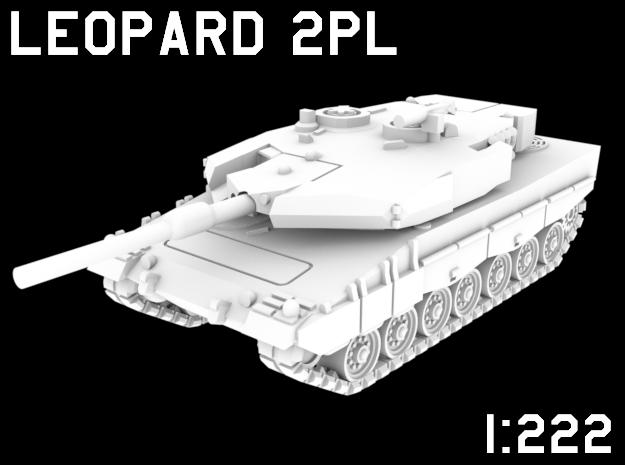 1:222 Scale Leopard 2PL in White Natural Versatile Plastic