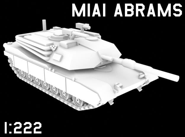 1:222 Scale M1A1 Abrams in White Natural Versatile Plastic