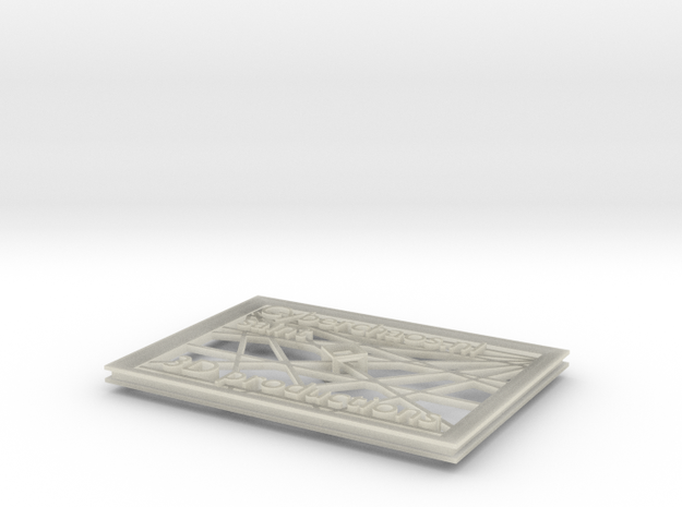 visite kaartje 3d printed