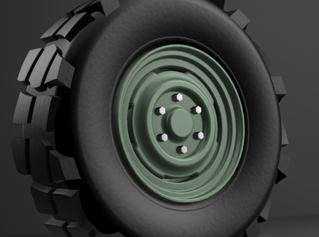 1/64 scale Overlanders with tires - 8mm wheel dia in Smoothest Fine Detail Plastic