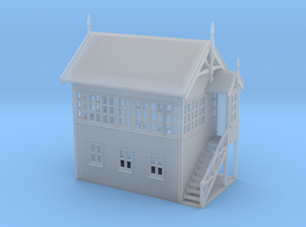 VR Signal Box #2 [Right Stairs] 1:160 Scale in Smooth Fine Detail Plastic