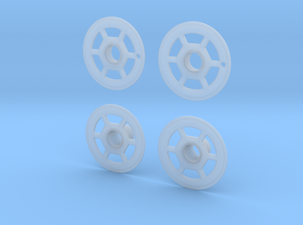 1/20 Lola T92/00 wheel covers type 2 in Smooth Fine Detail Plastic