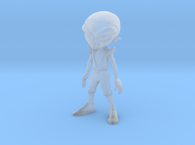 Alien Grey Small Detailed 3d printed