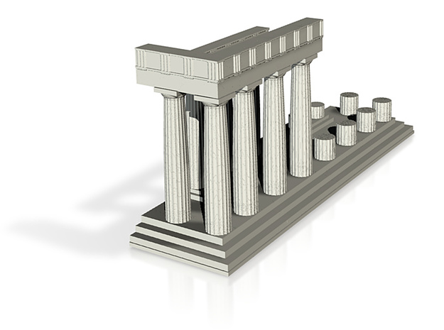 1:150 Parthenon Section 2 3d printed