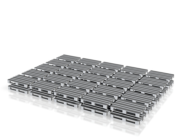 Europallets 50 pieces 3d printed