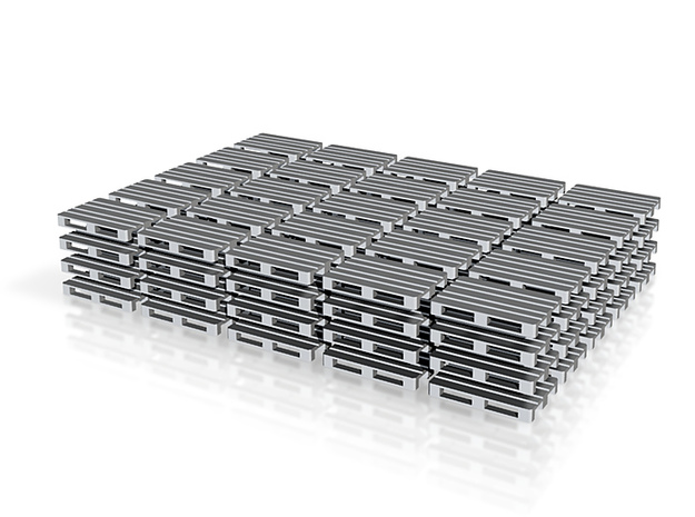 Europallets 100 pieces 3d printed