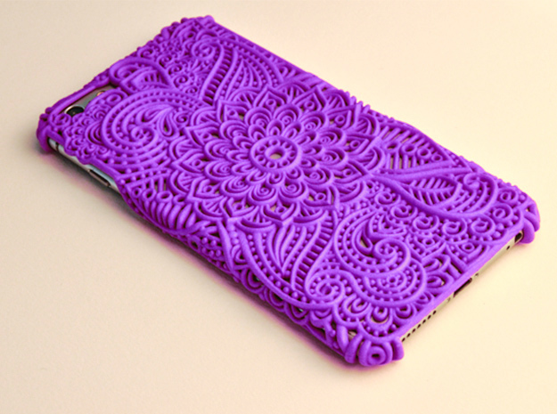 Neisha - Floral Case for Iphone 6/6S Plus in Purple Processed Versatile Plastic