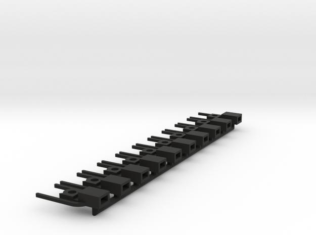 Koppelschacht (1:87) in Black Natural Versatile Plastic