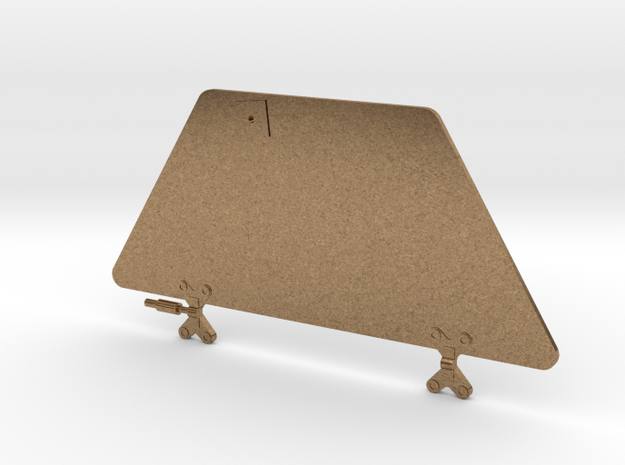 Mars Rover 1/20th Solar Panel Rear Wing in Natural Brass