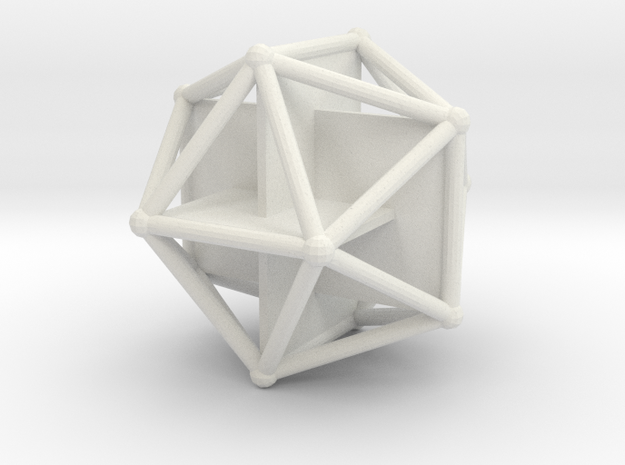 Golden Icosahedron in White Strong & Flexible