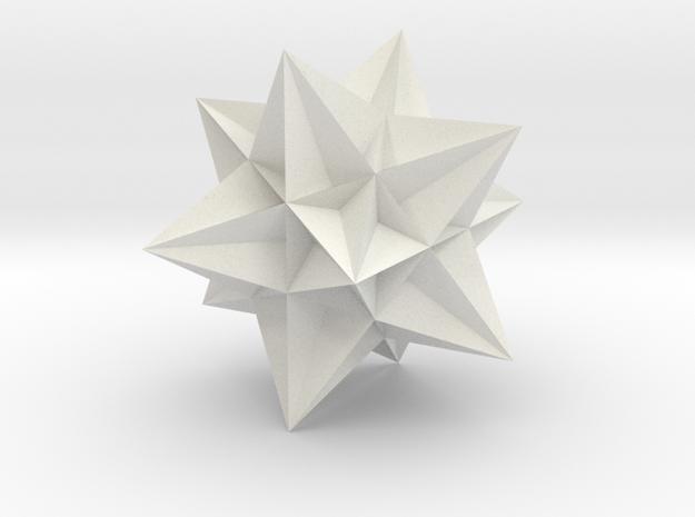 Great Icosahedron in White Natural Versatile Plastic