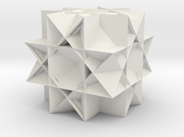 Uniform Gt. Rhombicuboctahedron2 in White Strong & Flexible