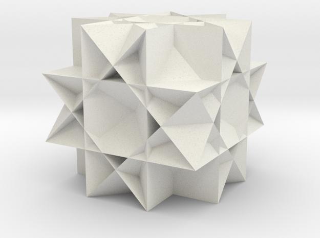 Uniform Gt. Rhombicuboctahedron in White Natural Versatile Plastic