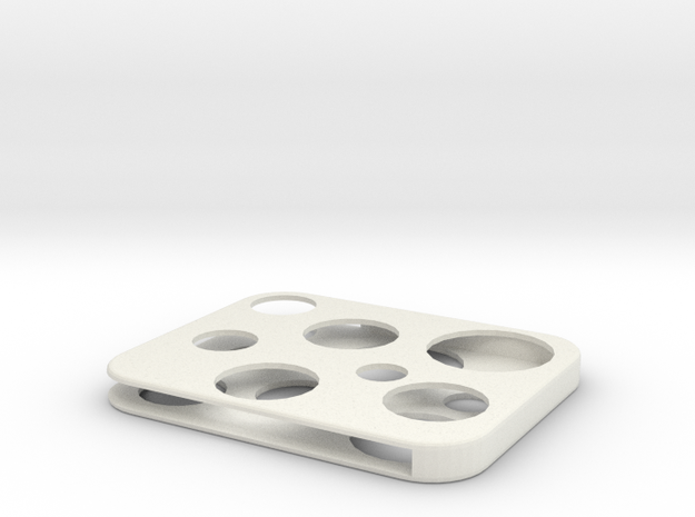Flash Cover Swiss Cheese in White Natural Versatile Plastic
