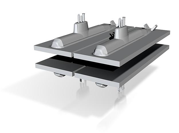 HDW 212 Submarine 1:2400 x4 3d printed