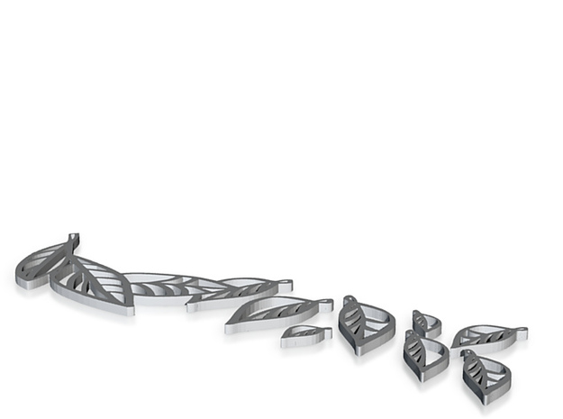 Leaves thin - linkers and dangles 3d printed
