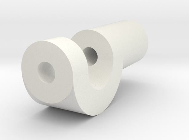 JDH-spacer_servo.stl in White Natural Versatile Plastic