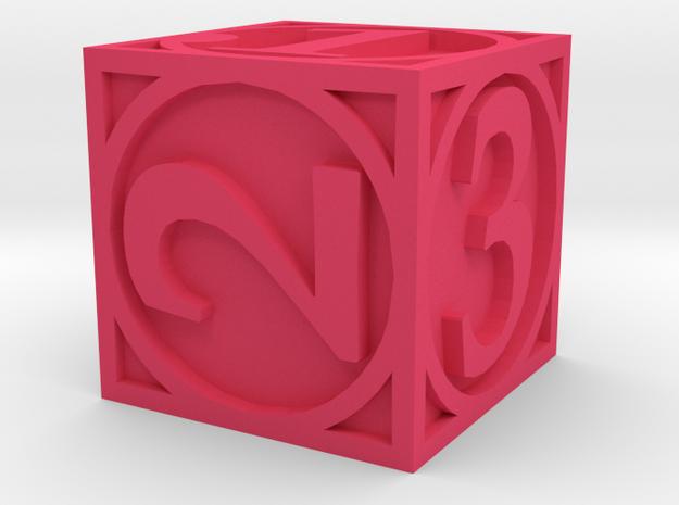 Circle Theme Die6 3d printed