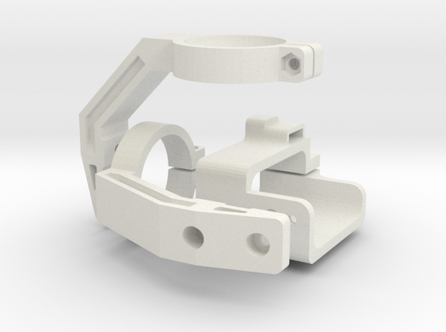 Mobius Gimbal - Roll and Pitch Assembly in White Natural Versatile Plastic