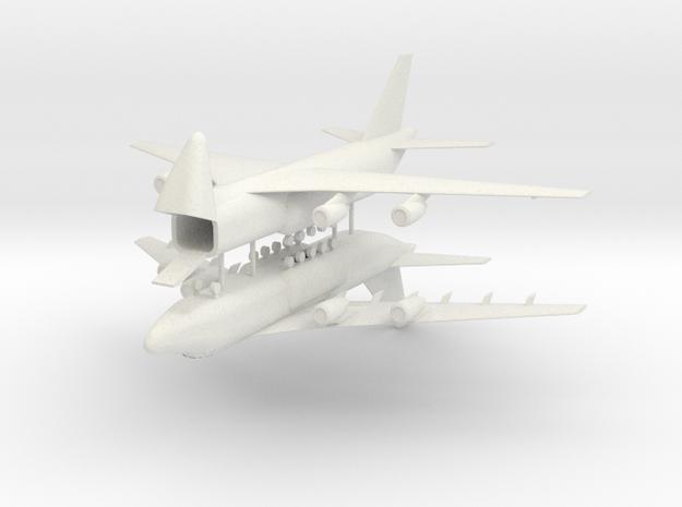 1/700 Antonov AN-124 Ruslan (x2) in White Natural Versatile Plastic