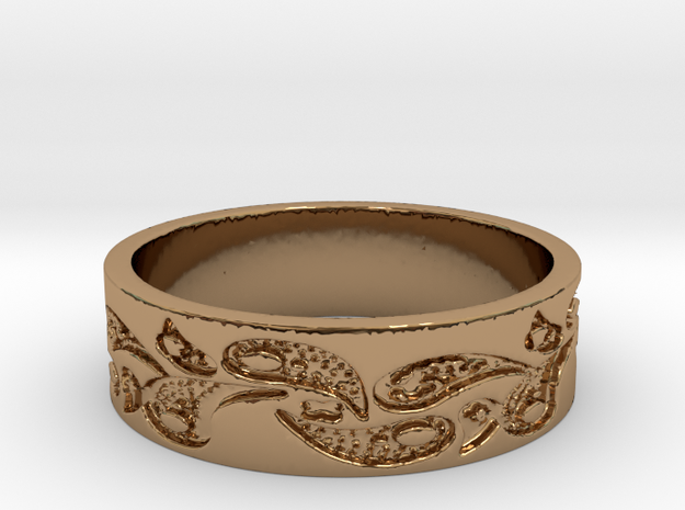 Paisley #2 (Size 8) in Polished Brass