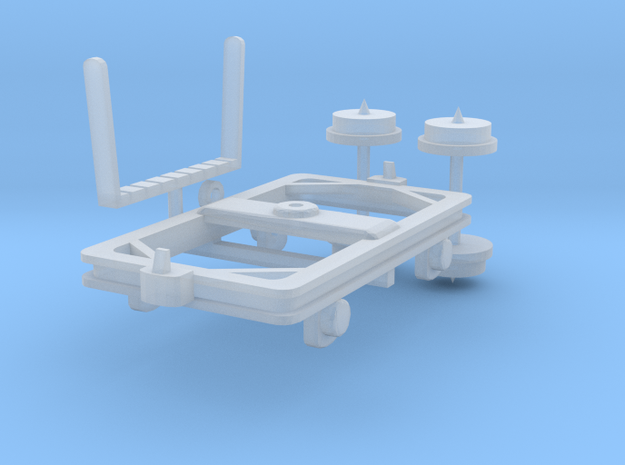 Timber Bogie H0e  in Smooth Fine Detail Plastic