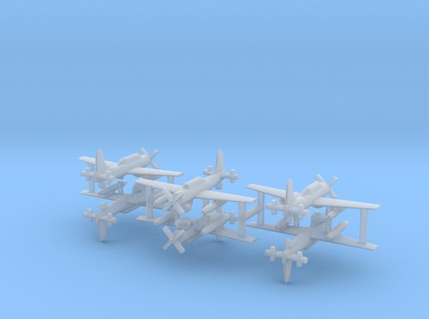 1/700 AD-4W (AEW.1) Skyraider (x6) in Smooth Fine Detail Plastic
