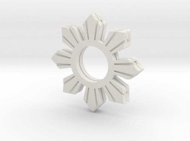 sun_ray_003.dae in White Natural Versatile Plastic