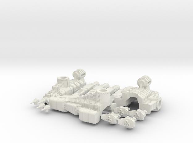 Nova Class Destroyer in White Natural Versatile Plastic