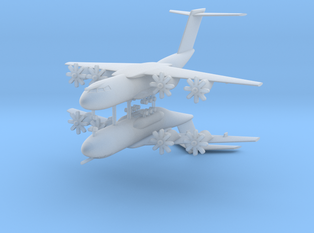 1/700 Airbus A-400M Atlas (x2) in Smooth Fine Detail Plastic