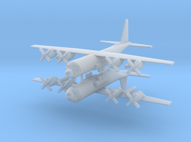 1/700 C-130E Hercules (x2) in Smooth Fine Detail Plastic