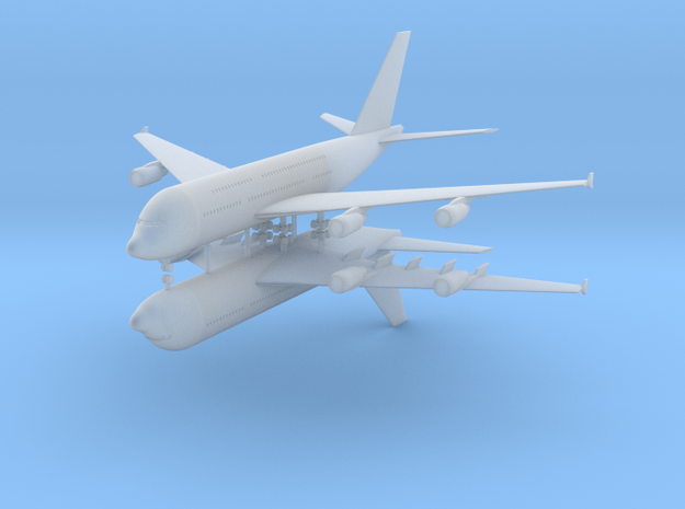 1/700 Airbus A380-800 Commercial Airliner (x2) in Smooth Fine Detail Plastic
