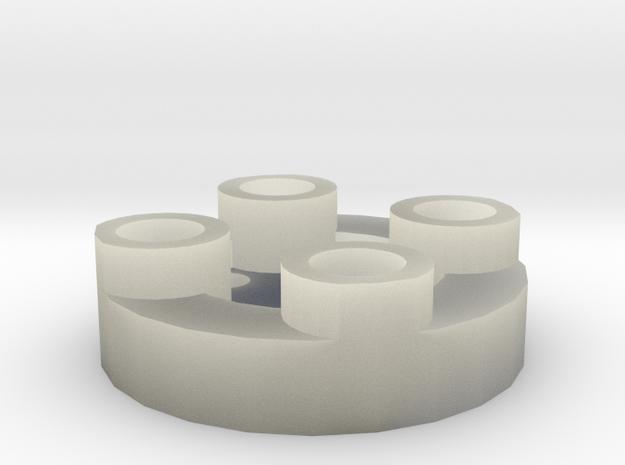 Sewable Disc Button - Base Design in Transparent Acrylic