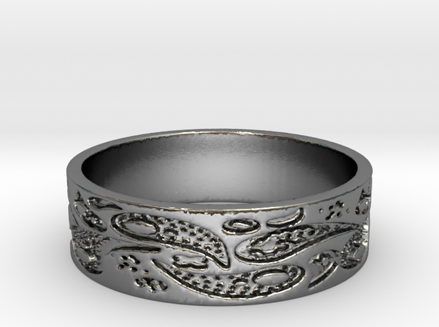 Paisley So (Size 8) in Polished Silver