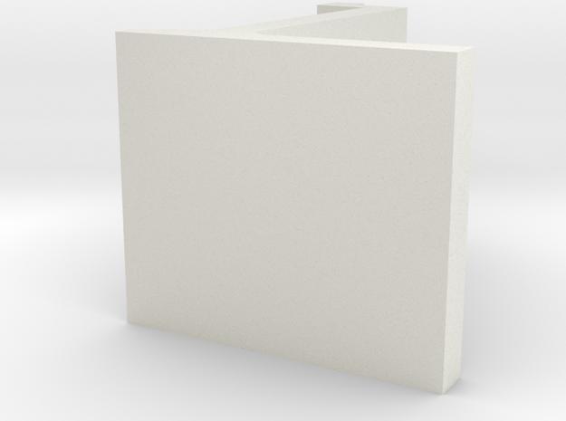 Perronkeerwand model 1980 H0 in White Strong & Flexible