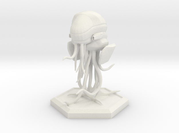 Space Jellyfish 28mm in White Natural Versatile Plastic