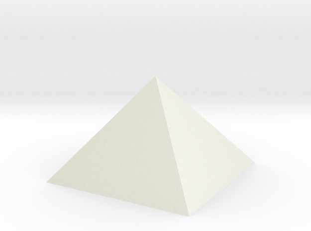 Great Pyramid 1:4800 in White Natural Versatile Plastic