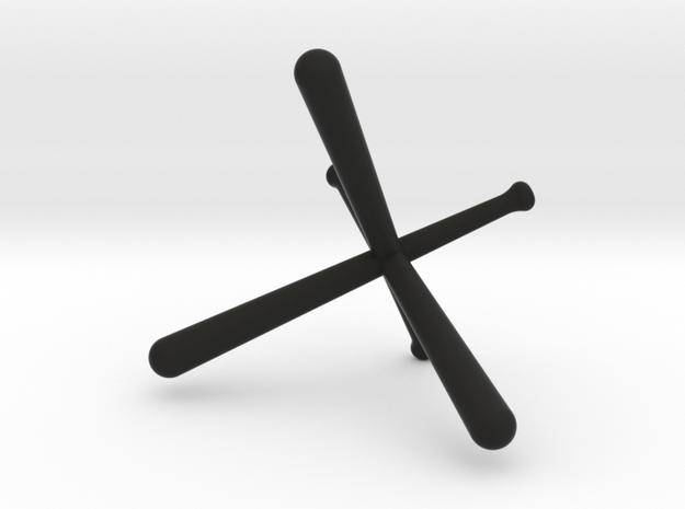 Tri-Bat Baseball Display 3d printed