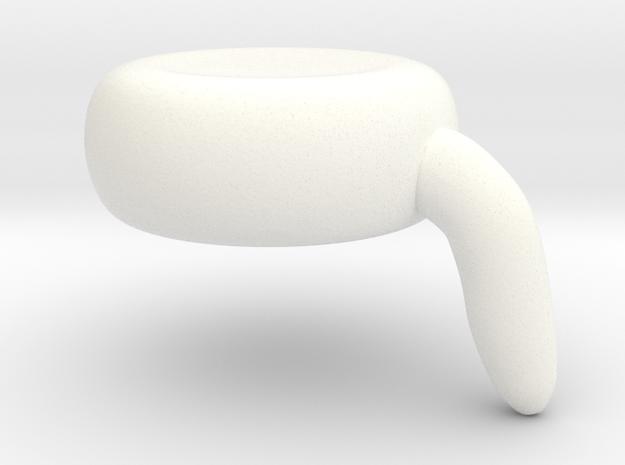 Scooncap in White Processed Versatile Plastic