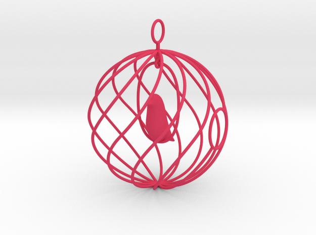 merry bird - christmas ornament 3d printed
