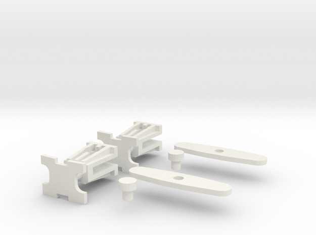 Polish Couplings 0e Scale (2 Pack) in White Natural Versatile Plastic