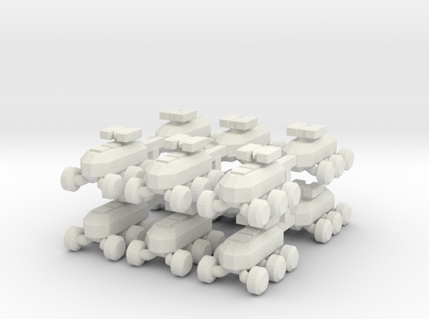 8 MULE Robot x12 in White Strong & Flexible